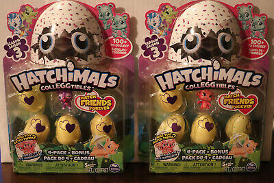 Hatchimals Colleggtibles Season 3 - 4 Pack & Bonus NEW - Lot of 2