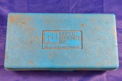 Roper Whitney Co. Rw No.5 Jr. Hand Punch Set With Case And Dies Incomplete