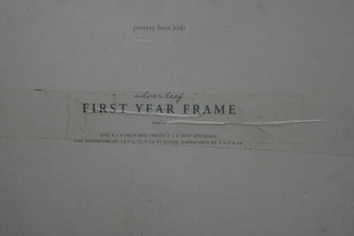 Pottery Barn Silver Leaf 1st Year Frame New In Box
