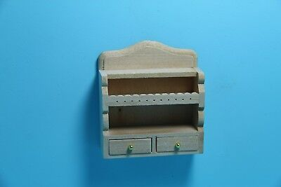 Dollhouse Miniature Unfinished Wall Cabinet Shelf with Drawers ~ GW005 for sale  Shipping to India