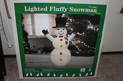 NEW Inflatable Snowman Lighted 6 ft. Outdoor Winter Yard Christmas Decor