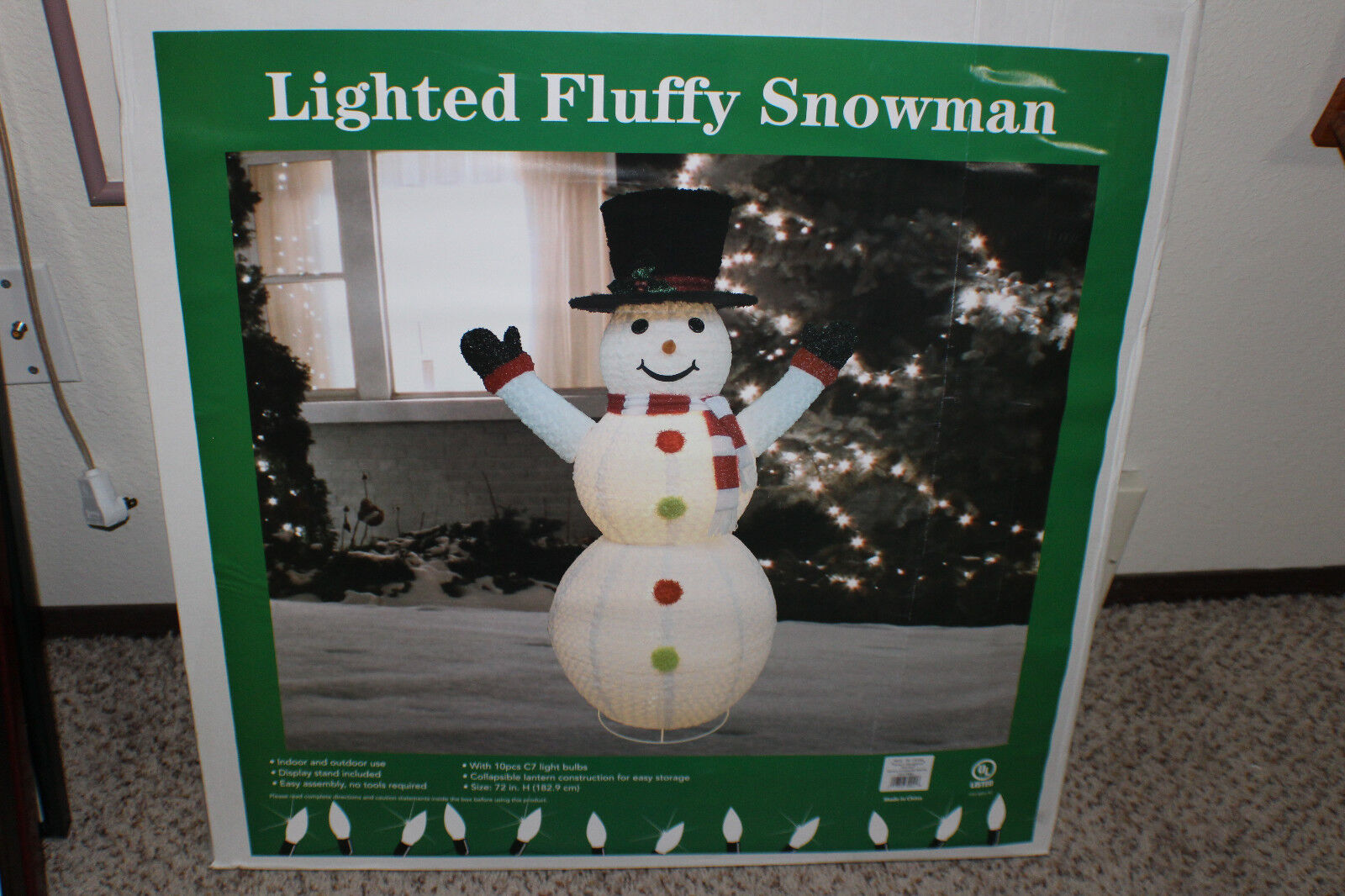 Inflatable Snowman Lighted 6 Ft. Outdoor Winter Yard Christmas Decor