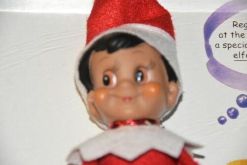 New NIB Elf On The Shelf A Christmas Tradition Boy black hair brown eyes book