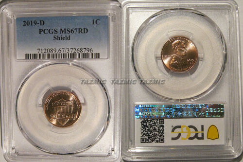 2019 D Lincoln SHIELD Cent 1c PCGS MS67RD