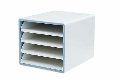 Litem Deluxe Open File Cabinet 4 Tiers With Internal Sliding Drawers Stack...