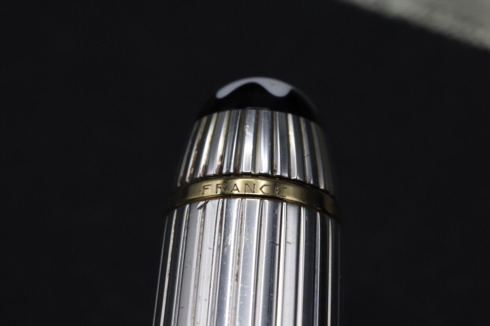 Montblanc Meisterstuck 114 Mozart AG925 Solitaire Pinstripe Fountain Pen 7