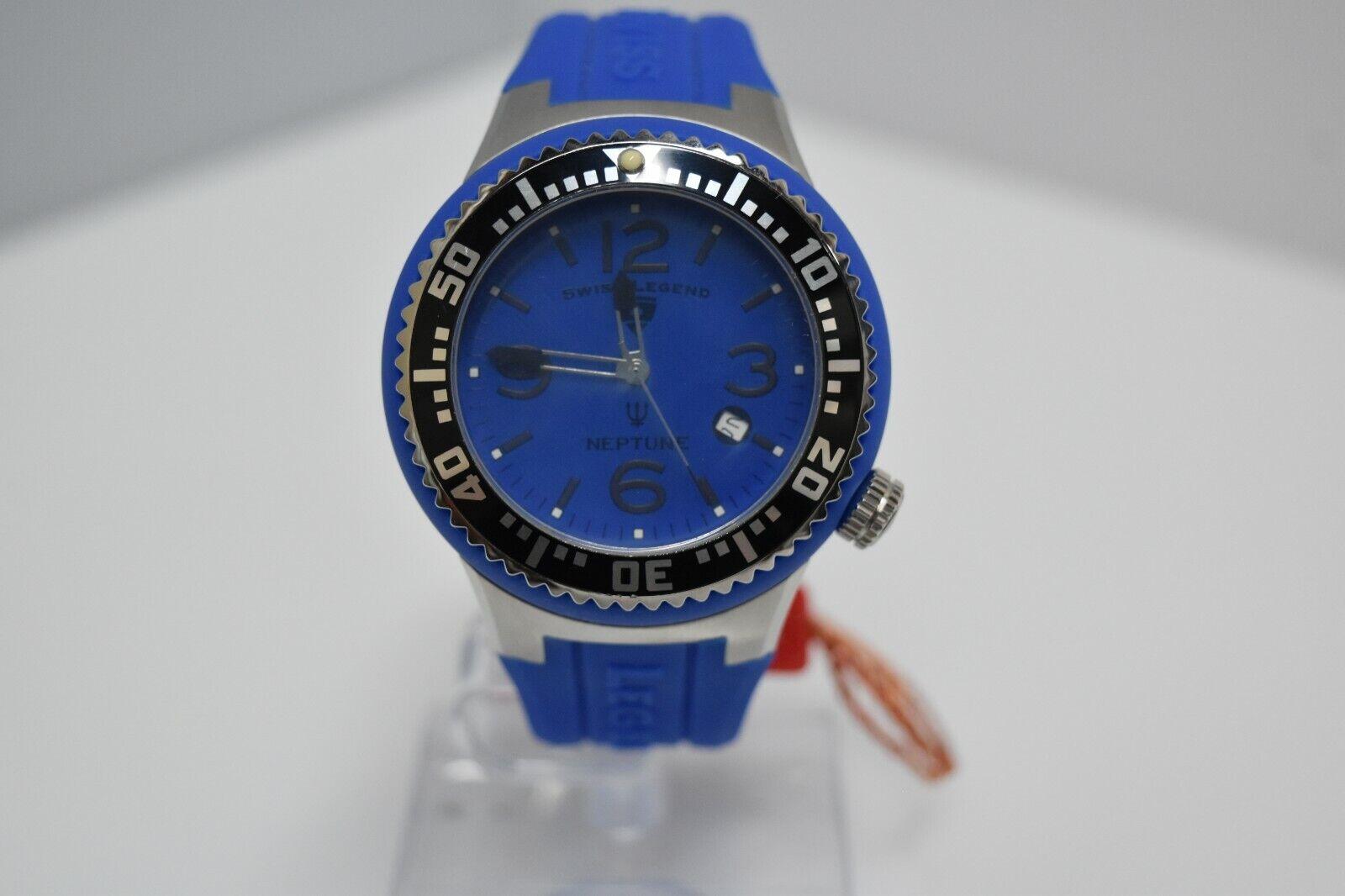 Swiss Legend Swiss Sapphitek 48mm SL-21848P Watch Blue/SS/Blue