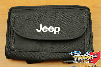 1997-2018 Jeep Wrangler JK Rollbar Sunglass Holder Storage Bag w/ Logo Mopar OEM (Bag Jeep Wrangler)
