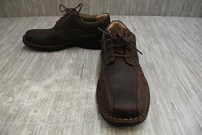 Clarks Espace Lace Up Casual Shoes, Men's Size 9.5M, Brown