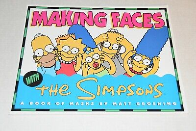 Excellent 1992 MAKING FACES With The Simpsons A Book Of Paper Masks Matt (Making Paper Masks)