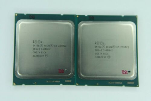 Matched pair of Intel Xeon E5-2690 V2 3GHz Ten Core SR1A5 Processor w/Grease