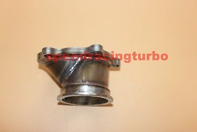 """Used, T25 T28 GT25 GT28 To 2.5"""" 63mm V-band Flange Turbo Downpipe Adapter 5 Bolt Outle for sale  Carol Stream"""