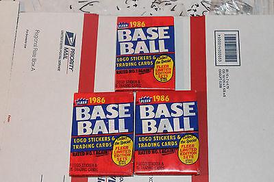 1986 Fleer  Baseball Packs!! Vintage unopened Lot.