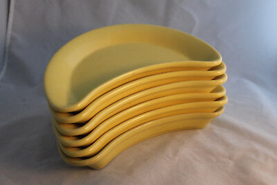 Coors Half Moon Dishes in Yellow Set of Six Alox Mark ()