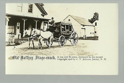 Jaffrey New Hampshire Rp 1906 Stagecoach Stage Coach General Store Street Scene