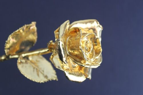 24K Rose Co.Vintage Real Rose Dipped 24K Gold Made in USA