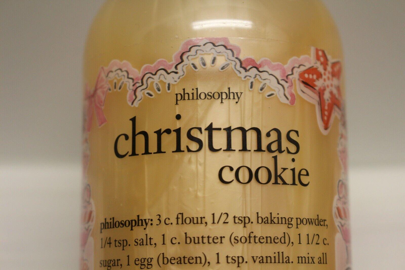 PHILOSOPHY CHRISTMAS COOKIE 16 oz Shampoo Shower Gel Bubble