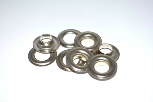 "#2 (3/8"") Nickel Plated Solid Brass Self Piercing Grommets & Washers 100 pair"