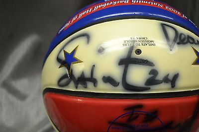 Signed Harlem Globe Trotters Basketball 2002 11 Signatures Memorabilia Baden