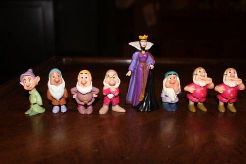 8 Vintage 1993 Mattel Disney 7 Snow White Dwarfs & Evil Queen Grimhilde Figure