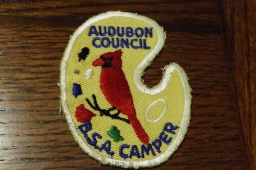 BOY SCOUT PATCH AUDUBON COUNCIL BSA CAMPER C/E