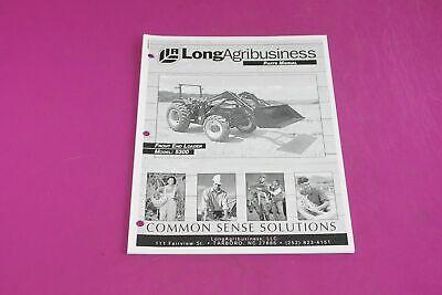 Long Agribusiness Model 5300 Front End Loader Parts Manual. Used. Stapled Corner