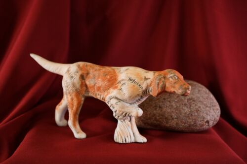 "Vintage GUNDOG Retriever Pointer Setter Dog Figurine 3 1/4"" T X 7 1/8"" L #GD6"
