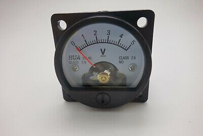 Dc 0-5v Analog Voltmeter Analogue Voltage Panel Meter So45 Directly Connect