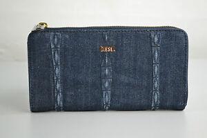 DIESEL Over Cute Ruby Damen Portmonee Portemonnaie Geldbörse Jeans Blau NEU