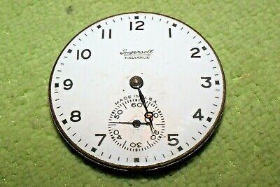#PW86,Ingersoll Reliance,Watch Co.42mm Movement & Porcelain Dial Pocket Watch 7J
