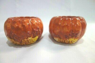 Yankee Candle Autumn Fall Leaf Pumpkin Tealight Holder Halloween Thanksgiving