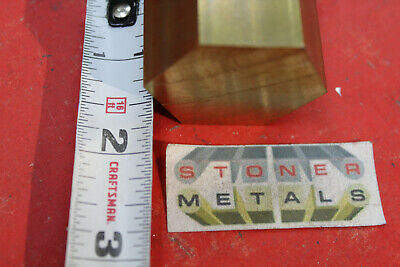 1-12 C360 Brass Hex Bar 1-12 Long New Lathe Bar Stock 1.50 Hex 12 Hard