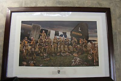 WW2 101st Airborne Paratrooper The Filthy Thirteen  signed print