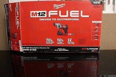 Milwaukee 2416-21xc M12 Fuel 12v 58-inch 4.0ah Sds-plus Rotary Hammer Kit