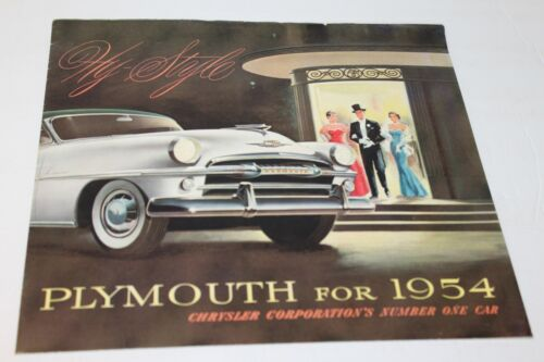 1954 PLYMOUTH FOLDOUT  DEALER SALES BROCHURE