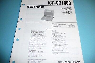 Service Manual-Anleitung für Sony ICF-CD1000   ,ORIGINAL!!