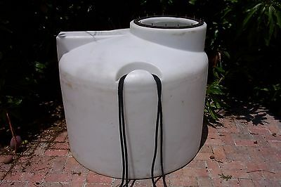 USED, 250 Gallon White Poly Free Standing Tank, Made By Chem-Tainer in Hawaii