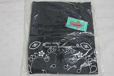 Odd Future MellowHype Bandana T Shirt L Charcoal BRAND NEW DS Golf Wang