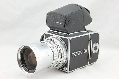 Hasselblad 500 CM C/M Medium Format Camera w/ 50mm Lens & A-16 Back. Good Cond.