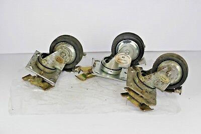 Darcor Industrial Swivel Caster Rubber Wheel Locking Brake 3 13 X 1 12