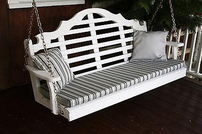Outdoor 4 Foot Marlboro Porch Swing White Paint Amish Made i