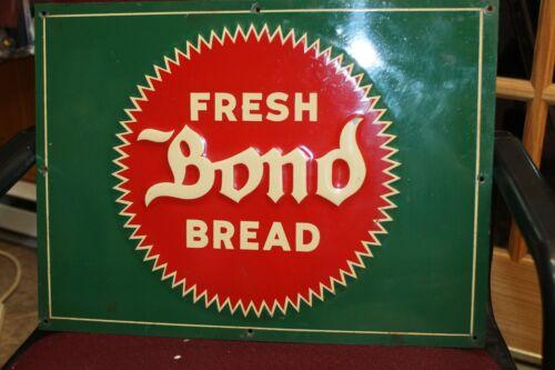 VINTAGE GREEN FRESH BOND BREAD BALTIMORE MARYLAND METAL SIGN EXCELLENT