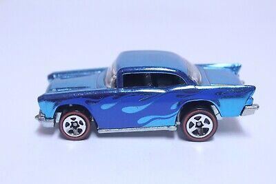 HOT WHEELS '57 CHEVY BEL AIR VERY NICE CLASSICS SERIES BLUE W/ FLAMES