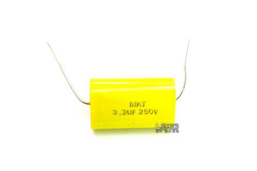 2pcs 3.3uF 250V  Metallized Polyester Film Capacitor 5% Audio Crossover Tweeter