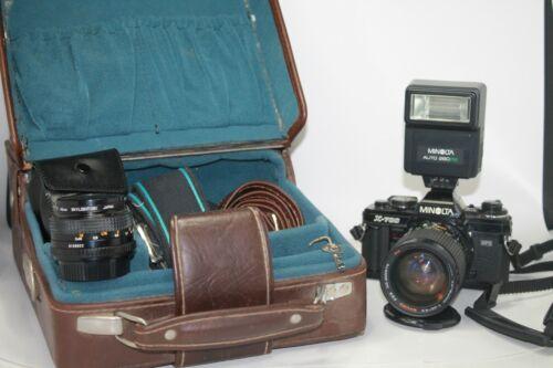 Minolta X-700 35 mm camera w/28-80 MM lens/ 50mm lens, Auto 280 flash +++