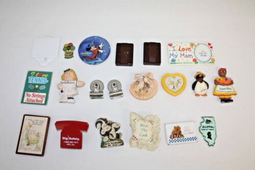 Vintage Lot 20 Collectible Magnet Assortment Collection