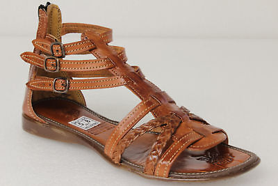 Womens 541 Gladiator Style All Real Leather Huarache Sandal Ankle Strappy Brown