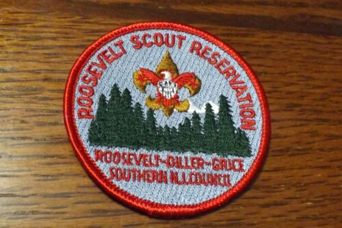 BOY SCOUT PATCH ROOSEVELT SCOUT RESERVATION SOUTHER NEW JERSEY COUNCIL