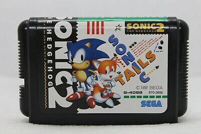 Mega-Drive Genesis -- Sonic The Hedgehog 2 -- JAPAN Game Sega.