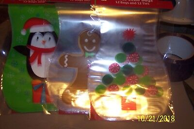 CHRISTMAS DIE CUT CELLO TREAT BAGS